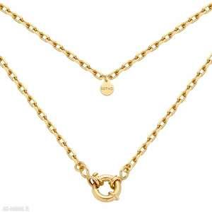 złoty łańcuch z ozdobnym zapięciem - pozłacany
