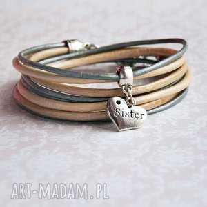 bransoletki dla siostry - pomysł na prezent nude silver, święta, siostra, siostry