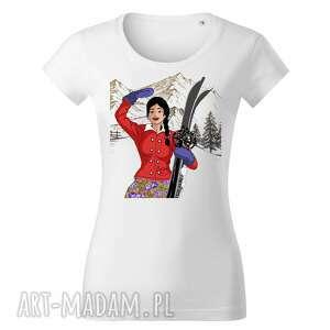 ręcznie wykonane koszulki tatra art by sasadesign magdalena gądek - biała koszulka