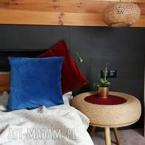 poduszka welurowa, gładka smooth, ceglasta czerwień, gładka, stylowa
