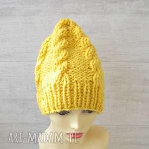 hand-made czapki gruba czapka alpaka