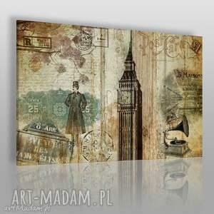 obraz na płótnie - kolaż retro 120x80 cm 18601 , retro, vintage, kolaż, anglia