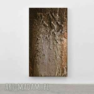 brownie - wielkoformatowy obraz na płótnie abstrakcyjny art, abstracyjny