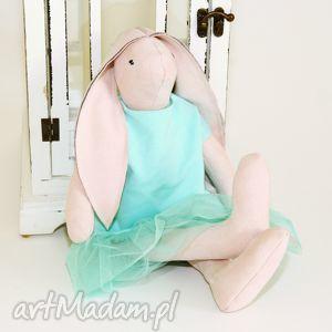 lalka tilda królik - miętowa dziewczynka - tilda, przytulanka, królik, miś