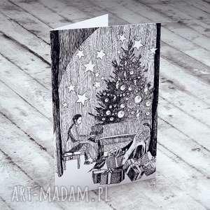 upominki świąteczne Karteczka zdobiona autorską ilustracją... , kartki,