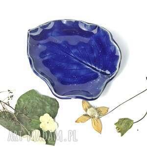 """Mydelniczka talerzyk """"niebiański liść"""" ceramika ceramystiq"""