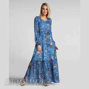 sukienki sukienka isa maxi natalie, maxi, w kwiaty