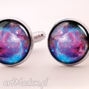 orion nebula - spinki do mankietów - wszechświat, męska