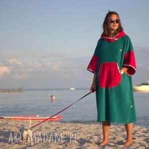szlafrok dla morsa - surf poncho green energy, morsa