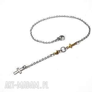alloys collection /line cross /15-02-18/bransoletka, stal, szlachetna, pozłacane