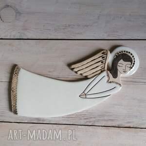 ceramika anioł ceramiczny - vela, anioł, chrzest, komunia, aniołek, ślub