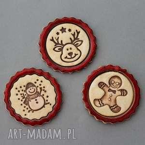 handmade pomysły na upominki świąteczne ciastek i spółka - magnesy