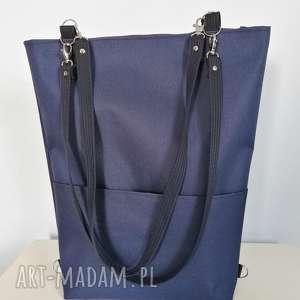 torebka granatowa cordura - ,plecak,torebka,wodoodporna,cordura,minimalistyczna,