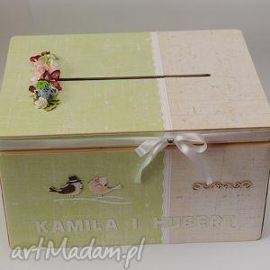 księgi gości drewniane pudełko na koperty ślubne duże , pudełko