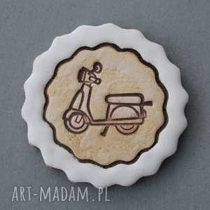 święta, skuter-magnes ceramiczny, motor, on, ona, prezent, lodówka magnesy