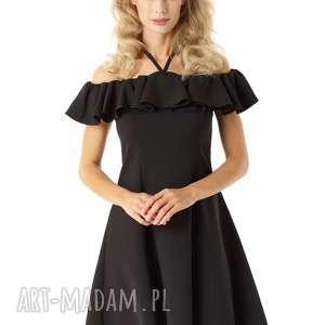 Rozkloszowana sukienka w stylu hiszpanki czarna 018 sukienki