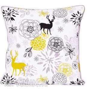 poduszka olivaceous deer 50x50cm, deer, jeleń, z-wypustką, poduszka-ozdobna