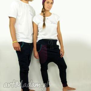 ręczne wykonanie spodnie twins granatove męskie i damskie - baggy