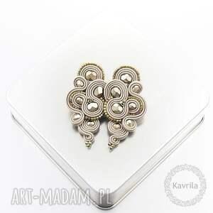 kolczyki lispiro sand soutache, sutasz, stylowe biżuteria