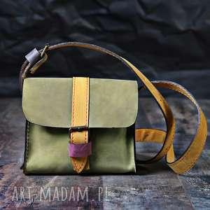 torebeczka mini z portfelem NavahoClothing, torba-skórzana, torebka-na-ramię