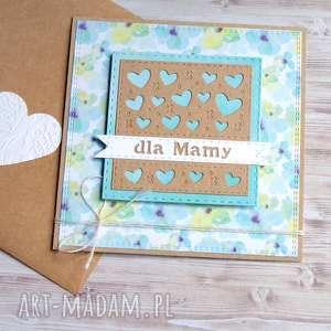 ręcznie zrobione kartki dla mamy: kartka handmade:: kwiatki