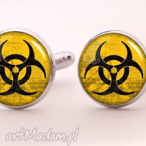 biohazard - spinki do mankietów, toksyczny, faceta
