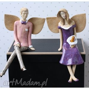 Para anielska VIII, anioły, ceramika, ślub, figurki