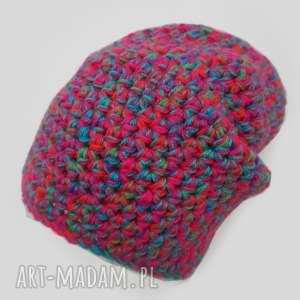 czapki czapka hand made no 037 / beanie szydło, ciepła, narciarska, prezent