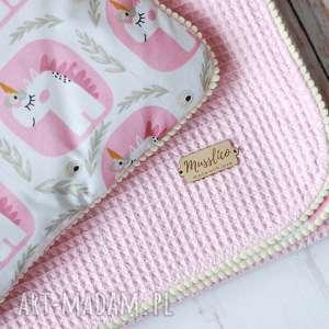 Kocyk i poduszka-jednorożce pokoik dziecka musslico kocyk