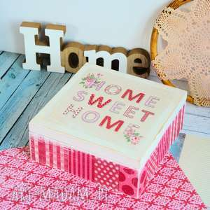 hand made pudełka pudełko - home sweet