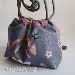 torebka dla dziewczynki - pastelove jelonki, torebka, woreczek, wodoodporna