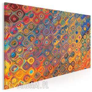 obraz na płótnie - kształty kolory surrealizm 120x80 cm (92801)
