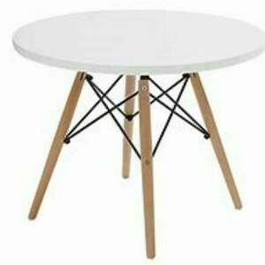 stolik dziecięcy okrągły biały, meble dziecięce, i krzesełko, pokój
