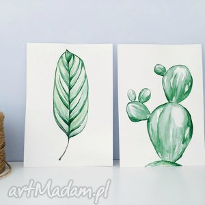 grafika kartka malowana akwarelą listek, liśc, plants, las, kartka, plakat, akwarela