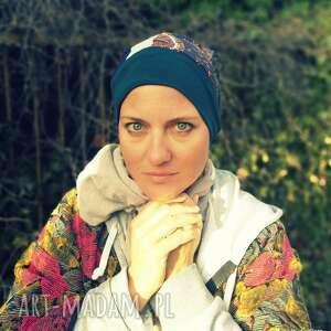 czapki czapka etno boho damska kolorowa patchworkowa długa, czapka