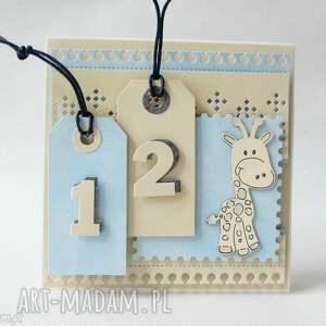 scrapbooking kartki z żyrafką, urodziny, gratulacje