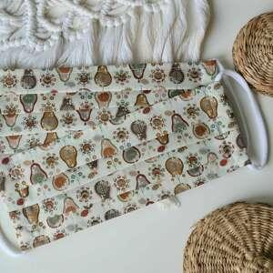 bawełniana maseczka wielorazowa jednowarstwowa zestaw 2 szt, maseczka