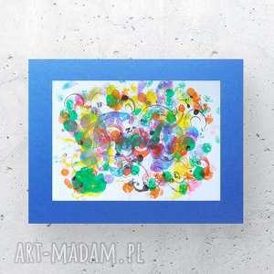 kolorowa abstrakcja, energetyczna grafika, nowoczesna dekoracja, design do biura