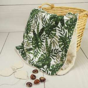 delikatny kocyk velvet botaniczne liście, kocyk, velvet, natura