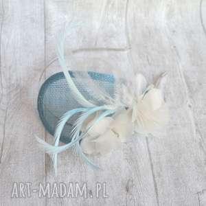Błękitny anioł ozdoby do włosów fascynatory fascynator, błękit,