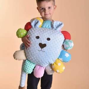 hand-made maskotki poduszka dziecięca lew