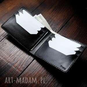 męski portfel skórzany model poziomy czarny, skórzany