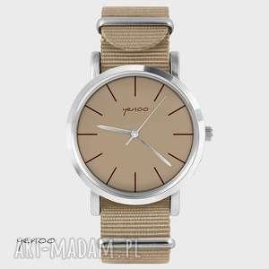 Prezent Zegarek, bransoletka - Klasyczny, beżowy beżowy, nato, zegarek,