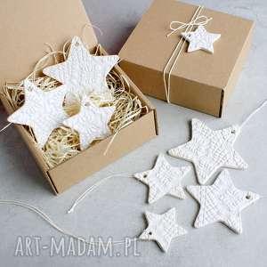 zestaw gwiazdek - zawieszki, gwiazdki, śnieżynki, ozdoby choinkowe, ozdób