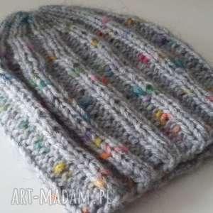 czapka zimowa - czapka, zima, kobieta, druty, smerfetka, oryginalna