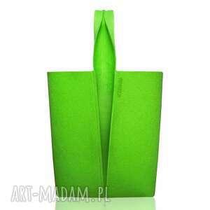 do ręki torba xxl limonka, filcowa, torba, zakupy, olbrzymka, pakowna, geometryczna