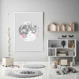 Księżyc a3 pokoik dziecka malgorzata domanska księżyc, moon