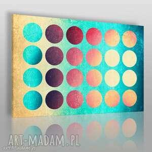 obrazy obraz na płótnie - koła geometria 120x80 cm 26301 , koła, kolory