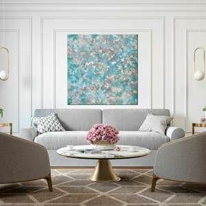 annsayuri art abstrakcyjny obraz ręcznie malowany ze złotem i fakturą - heaven
