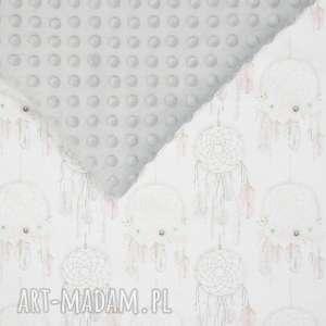 handmade pokoik dziecka kocyk łapacze szary